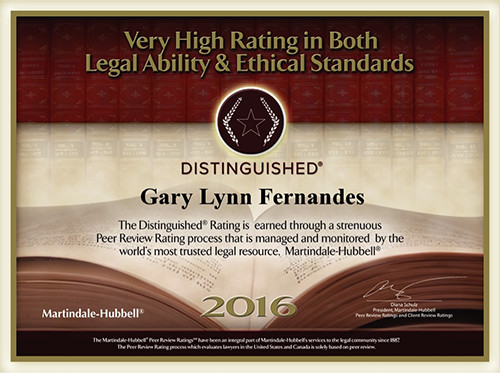 Very Highly Rated in Both Legal Ability and Ethical Standards
